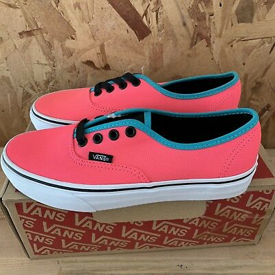 3fac5544b6 Vans Authentic (Brite) Neon Pink   Black Size Mens 4.5 Womens 6 New
