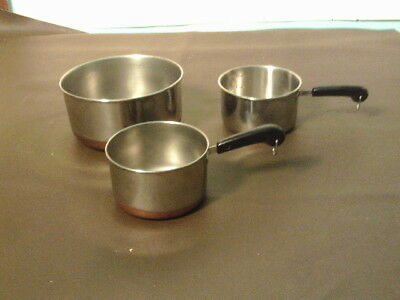 Vintage Revere Ware 1 Cup Measuring Cup Copper Bottom with two others