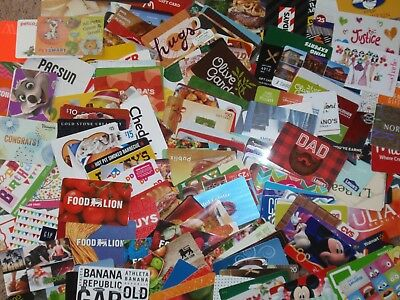 Collectible Gift Card - LOT of 211 Diff Cards - No $ Cash Value - Each Pictured