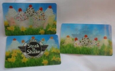 STEAK 'N SHAKE Collectible Gift Card / LENTICULAR - 3-WAY / - No Cash Value
