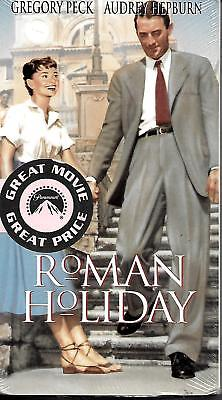 Roman Holiday ~ Audrey Hepburn ~ Gregory Peck (VHS 1998) ~ New Sealed