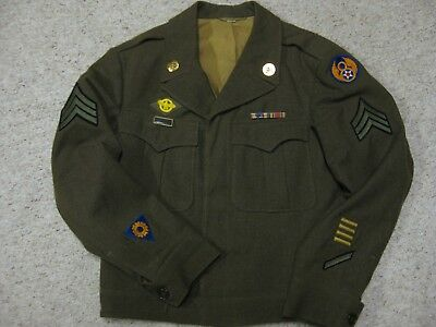 Wwii 1944 8Th Eighth Air Force Sergeant Ike Jacket