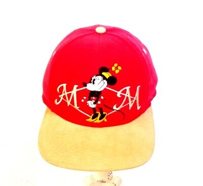 b6bd54fcee1 Disney Store Authentic Minnie Mouse Adult Baseball Hat Cap Embroidered Red  Beige