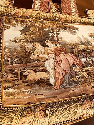 Beautiful Tapestry Woven Wall Hanging. 43 Inches by 33 Inches. Nature motif