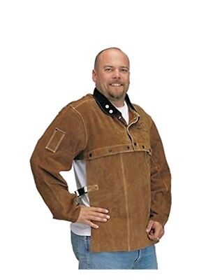 "Black Stallion 220CS Cowhide Welding Cape Sleeve w/20"" Bib Combo, X-Large"