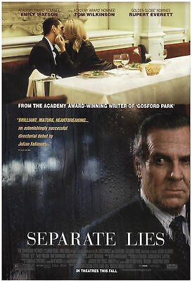 Separate Lies 2005 27x40 Orig Movie Poster FFF-71513 Rolled Very Fine