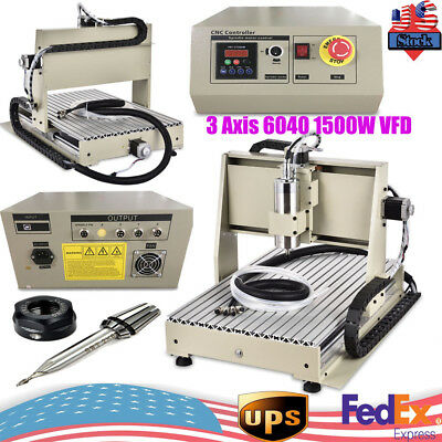 1500W 3 Axis Engraver Usb Cnc6040 Router Engraving Drilling Milling Machine Cut