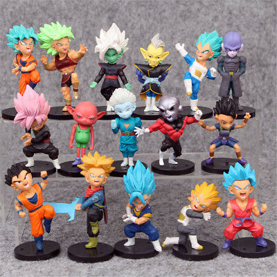 Dragon Ball Z Vegeta Son Goku 16 PCS Mini Action Figure Cake Topper Figurine Toy