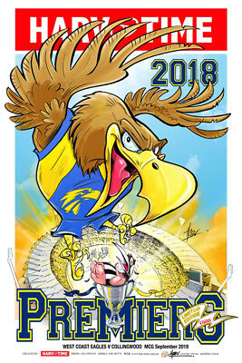 Harv Time 2018 Afl Grand Final Poster West Coast Eagles Limited Edition
