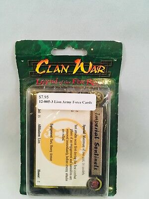 Clan War Legend of the Five Rings Lion Army Force Cards 12-005-3