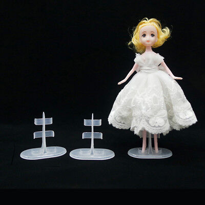 5 Pcs Doll Stand Support Display Holder Accessories Plastic For Barbie Doll CA