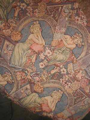 Vintage Tapestry Fabric ALPHONSE MUCHA Art Nouveau Ladies Upholstery Weight