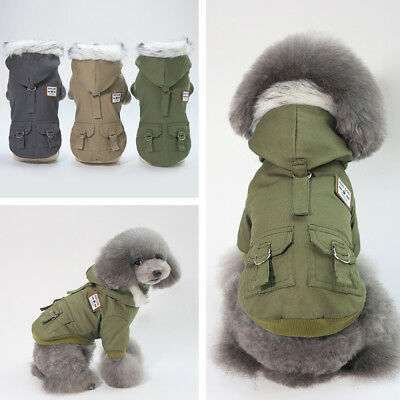 Dog Warm Jacket Coat Clothes Suit Harness Vest Pet Puppy Small Medium Large UK