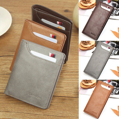 Men's Wallet Leather Pocket Card Clutch ID Credit Man's Bifold Purse Burse