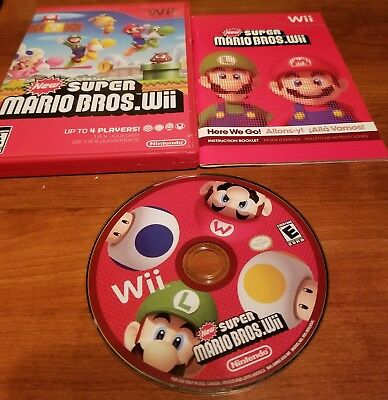 New Super Mario Bros. Wii (2009) With Strategy Guide Nintendo Wii And Wii U