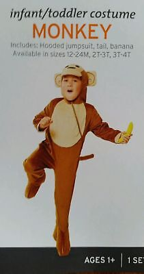 New NWT child halloween Costume unisex Monkey toddler 3T-4T