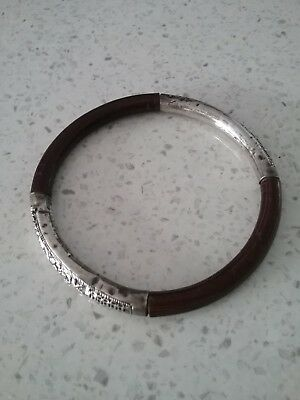 Antique Chinese Bamboo and  genuine Silver Bracelet. RARE