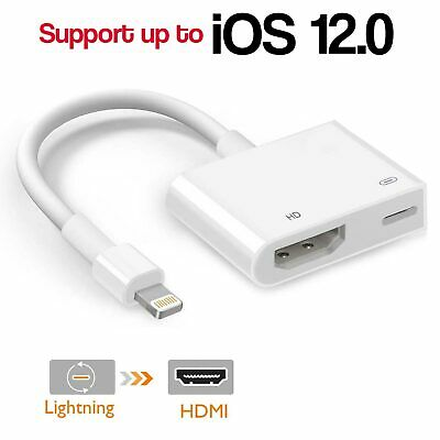 8 Pin Lightning To Digital AV TV HDMI Cable Adapter For iPad Air iPhone 6,7,8