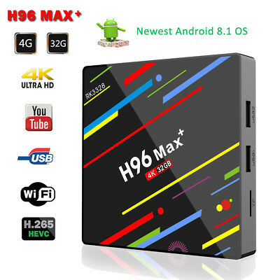 H96 Pro MAX+ 5G 4GB 32GB Android 8.1 TV Box K18.0 HD Smart Network Media Player