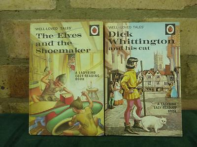 2 Vintage Ladybird book Well loved tales The Elves and the shoemaker , Dick Whit