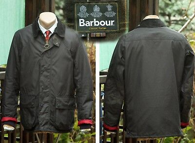 BARBOUR DIGBY Mens Sz M Medium  Navy Blue  Waxed Cotton jacket coat