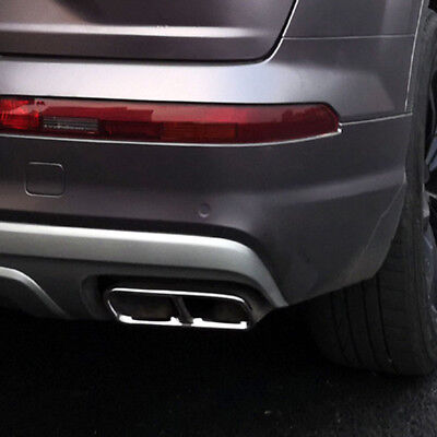 For Audi Q7 4M 2016 2017 2018 Rear Exhaust Muffler Tail End Pipe Cover Trim 2pcs