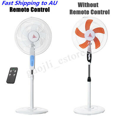 Portable Electric Pedestal Oscillating Floor Fan Air Cooling Cooler Home Office