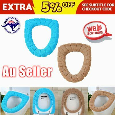 Toilet Seat Cover Bathroom Warmer Closestool Washable Soft Seat Mat X WY