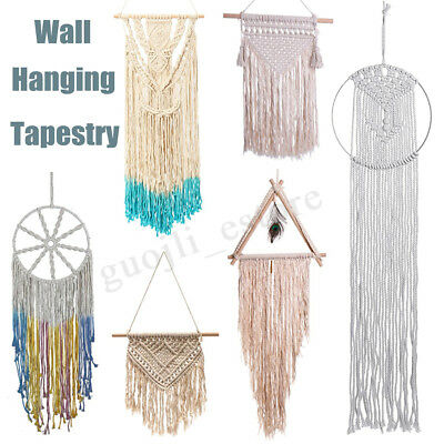 Handmade Hanging Wall Macrame Tapestry Cotton Woven Bohemian Room Art Decoration