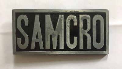 7ab39142c45d SAMCRO Sons Of Anarchy Biker Motorcycle   Metal Belt Buckle   Harley  Davidson TV