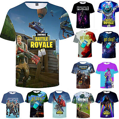3D T-Shirt Fortnite Royale XBOX Gaming Mens Women Boys Tee Shirt Casual Tops