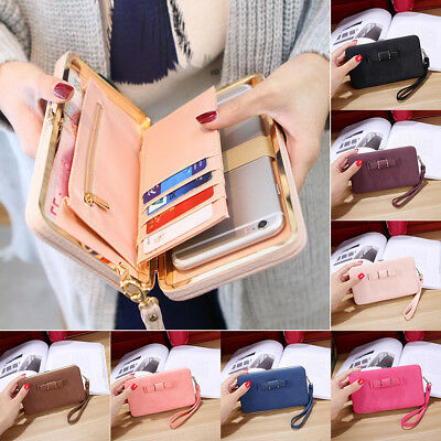 Women Leather Clutch Long Wallet PU Card Holder Purse Handbag Envelope Bag US
