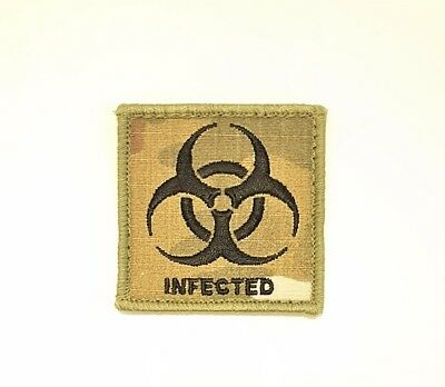 Morale Patch Biohazard Infected Zombie Adf Multicam Coyote Velcro® Backed