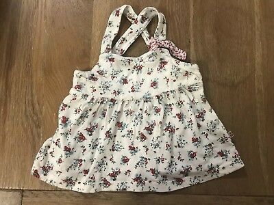 Bebe Baby Girl Floral Summer Cross Over Strap Top 12 Months Size 1