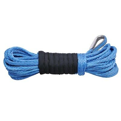"""50ft 15m 1/4"""" 5250lbs Synthetic Winch Line Rope Cable for Recovery Winch ATV SUV"""