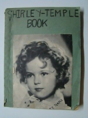 1930's Shirley Temple Homemade Photograph Fan Scrapbook