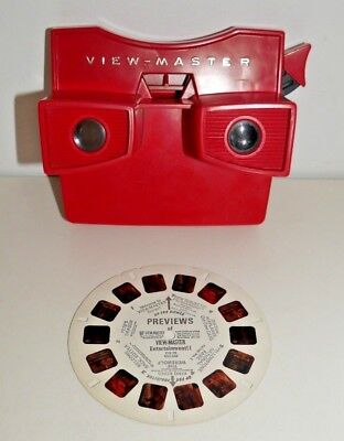 VINTAGE VIEWMASTER STEREO VIEWER RED MODEL G 1960's VERY RARE RETRO TOY   C338