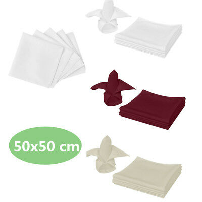 10/25/50/100 pcs Linen Dinner Napkins Table Cloth Fabric Hotel Wedding Banquet