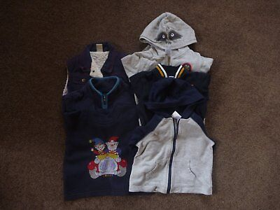 Baby Boys Hooded Zip-Up Jackets Jumper Vest - Size 1 - Bulk Lot Of 6