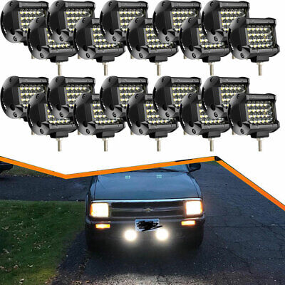 20x 4Inch Led Work Lights Spot Offroad Lamp For Peterbilt Tractor Chevy Boat UTE
