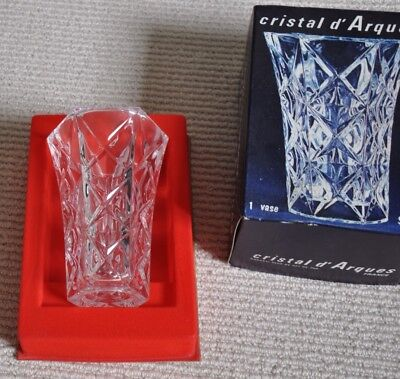 Lead Crystal Vase, French, 13cm, Glass, Boxed