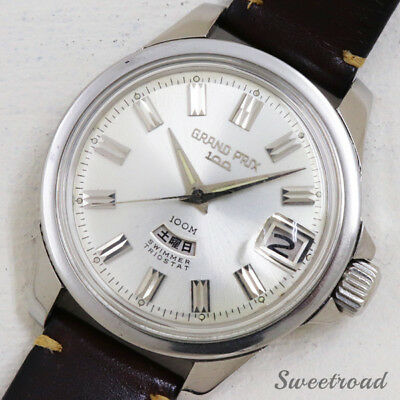 50c382acfe2e Orient Grand Prix 100 T19420 Cal.661 1965 SS Automatic Auth Men s Watch  Works