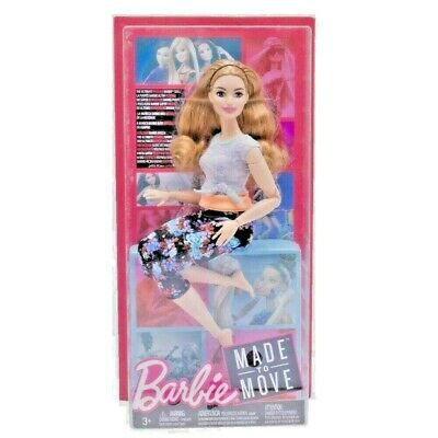 Barbie Made To Move Curvy Doll, Auburn Hair, FTG84, Barbie Articulated Doll