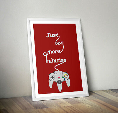 Nintendo inspired poster print wall art childrens kids decor gamer gaming room