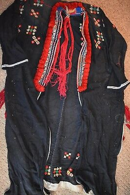 orig $799. YAO TRIBE SHAMAN ROBE, EMBROIDERED, EARLY 1900S 48""