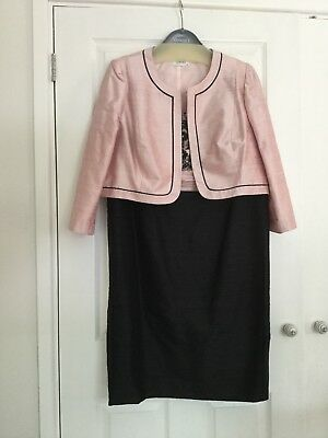 Condici Mother Of The Bride Silk Dress And Jacket. Black/pink. Size 20. Unworn.