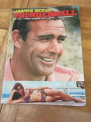 James Bond In Thunderball book 1965 007 Dr No Goldfinger From Russia With Love
