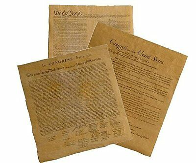 Declaration Of Independence + U.s. Constitution + Bill Of Rights Replicas
