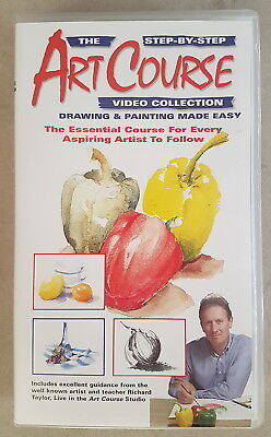 Step-By-Step Art Course - Drawing & Painting Made Easy 1 - VHS Video - AS NEW