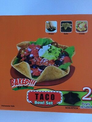 TWO (2) NEW BOXES of TWO (2) ea. Taco Tortilla Shell Bowl Molds w/ FREE SHIPPING